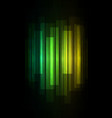 green fade speed bar overlap in dark background vector image