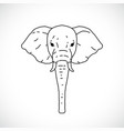 hand draw elephant head vector image