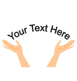 hands with space for your text vector image vector image