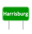Harrisburg green road sign vector image vector image