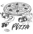 italian pizza collection of pizza with vector image vector image