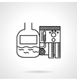 Line icon for sewage treatment vector image