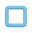 lollipop blue square frame vector image vector image