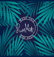 make this summer the best tropical background vector image vector image