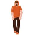 man walking icon vector image