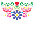 mexican folk art greeting card design vector image