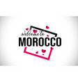 morocco welcome to word text with handwritten vector image vector image
