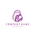 mother and baby logo vector image vector image