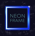 neon vintage frame glowing rectangle banner on vector image