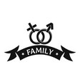 newborn family logo simple black style vector image vector image