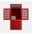 newspaper kiosk icon cartoon style vector image