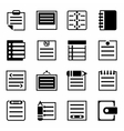 Notes icon set vector image vector image