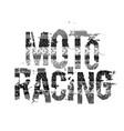 off-road grunge moto lettering vector image vector image