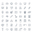 office icon set in thin line style symbols vector image vector image