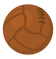 old volleyball ball icon cartoon style vector image vector image