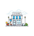 online store building vector image vector image