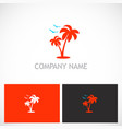 Palm tree seagul tropic logo