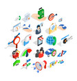 profession icons set isometric style vector image vector image