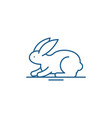 rabbit line icon concept rabbit flat vector image vector image