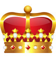 Realistic golden crown vector image vector image