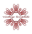 Red vintage curls vector image vector image