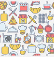 restaurant concept seamless pattern vector image