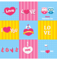 Retro Love Cards vector image