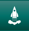 rocket pictogram icon simple flat pictogram for vector image vector image