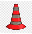 safety cones icon cartoon style vector image vector image