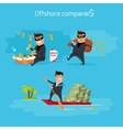 Set of Offshore Companies Concepts vector image vector image
