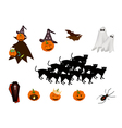 Set of Various Halloween Item and Monster vector image vector image