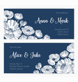 set save date card and wedding invitation vector image vector image