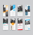 set white roll-up banners with place for photo vector image vector image