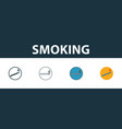 Smoking icon thin line outline style from