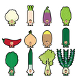 Stickers vegetables 2 vector image