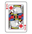 Stylized King of Diamonds vector image vector image