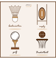 Summer Sports signs vector image vector image
