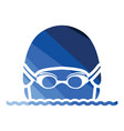 swimming man head icon vector image vector image