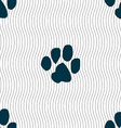trace dogs icon sign Seamless pattern with vector image