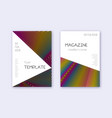 triangle cover design template set rainbow abstra vector image vector image