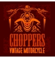 vintage bikers badge Retro chopper bike vector image vector image