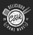 vintage kitchen utensil logotype vector image vector image