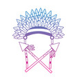 war bonnet spears feather native accessories vector image vector image