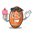 with ice cream rugby ball character cartoon vector image