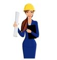 Woman engineer portrait vector image
