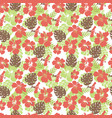 tropical leaves and flowers hibiscus flower vector image