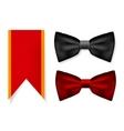 bow tie and red ribbon vector image