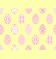 easter seamless pattern with easter eggs soft vector image