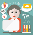 Secretary Flat Design vector image