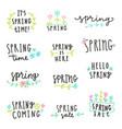set of spring lettering vector image